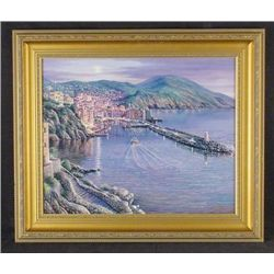 VIEW OF CAMOGLI Ray Sipos Framed Canvas LE Art
