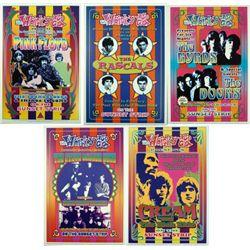 5 Psychedelic Repro Rock Posters Pink Floyd Doors Cream