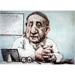 Charles Bragg Signed Medical Art Print Brain Surgeon