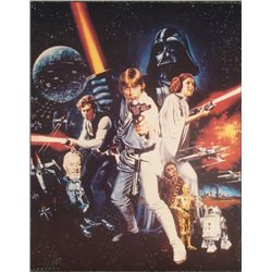 Tom Chantrell Stars Wars Movie Poster Collage