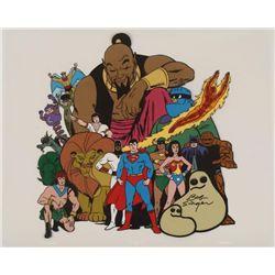 18 Superheroes Signed Original Model Cel Animation Art