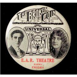 """""""Broken Coin"""" Celluloid Mirror Silent Movie Promo 1915"""