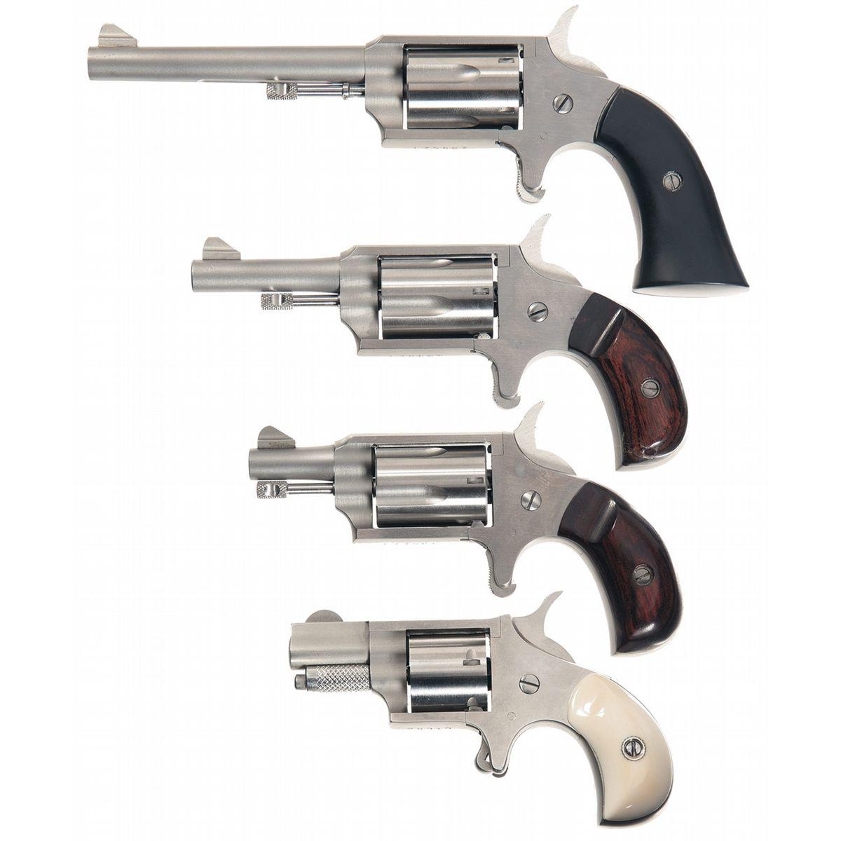 Four Single Action Mini Revolvers