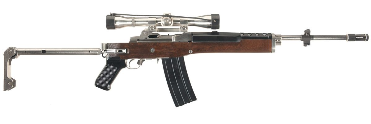 Ruger Mini-14 Semi-Automatic Rifle with Folding Stock and Scope
