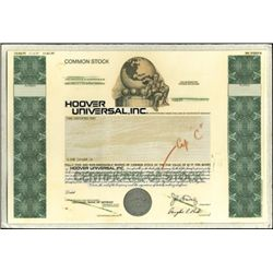 Hoover Universal, Inc. Production File,
