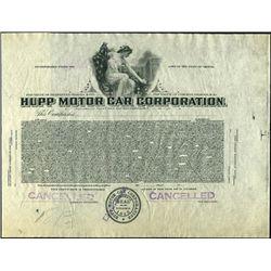 Hupp Motor Car Corporation Proof.