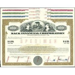 Mack Financial Corp. Registered Bond Assortment,
