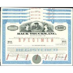 Mack Trucks, Inc. Registered Bond Assortment,