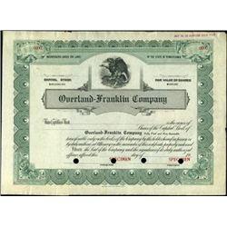 Overland-Franklin Company Stock Specimen,