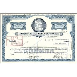 "Pabst Brewing Co. ""Pabst Blue Ribbon"" Stock Certif"
