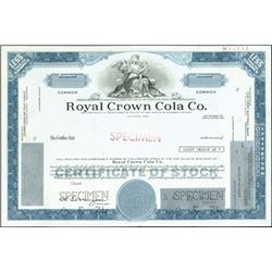 Roval Crown Cola Co. Specimen Stocks (4),