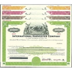 International Harvester Company Bond Specimens