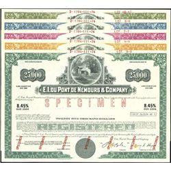 E.I.Du Pont De Nemours & Company Bond Specimens