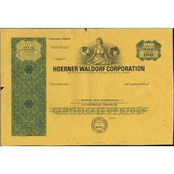 Hoerner Waldorf Corporation Production File,