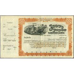 PA. Scott Paper Company Proof and Specimen Certifi