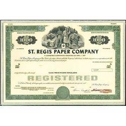 St. Regis Paper Company Unique Production Model,