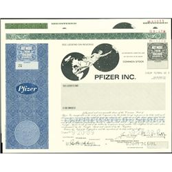Pfizer Inc. Stock and Bond Archive,