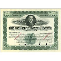 The Samuel W. Bowne Estate Company,
