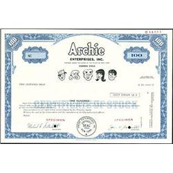 Archie Comic Books Stock Certificates