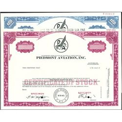 Piedmont Aviation, Inc. Stock and Bond Collection
