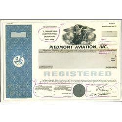 Piedmont Aviation, Inc. Production Model, Specimen