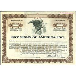 Sky Signs of America, Inc.,