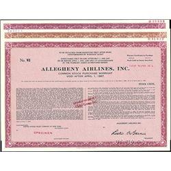 Allegheny Airlines - U.S.Air, Inc. Warrant trio