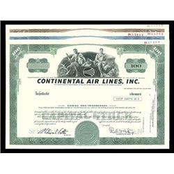 Continental Air Lines, Inc. Trio