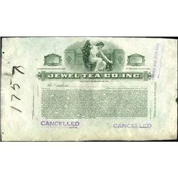 Jewel Tea Co., Inc. Archival Proof Stock Certifica