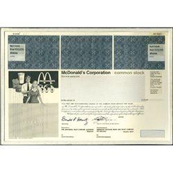 MCDonald's Corporation Unique Production File with