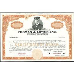 Thomas J. Lipton, Inc. Stock Specimens (2),