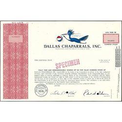 Dallas Chaparrals, Inc. (San Antonio Spurs),