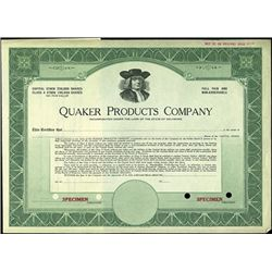 Quaker Products Company,