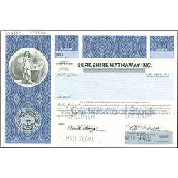 Bershire Hathaway Inc. Class B Shares,