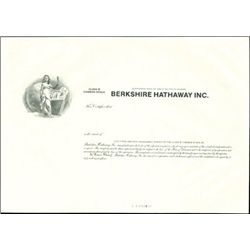 Berkshire Hathaway Inc. Proof Stock Certificate of