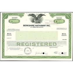 Berkshire Hathaway Inc. Registered Bond,