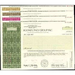 Rooney, Pace Group Inc. Stock Certificate Group,