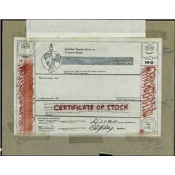 Shearson Hayden Stone Inc. Original Handrawn Stock