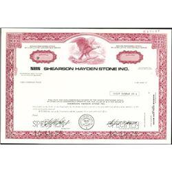 Shearson Hayden Stone Inc. Stock Specimens