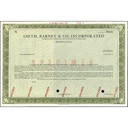 Smith Barney & Co. Inc. Specimen Stocks