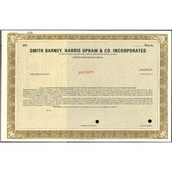 Smith Barney, Harris Upham & Co.Inc. Specimen Stoc