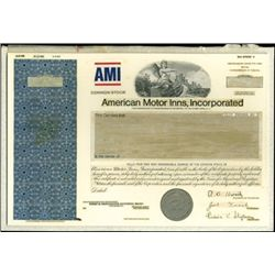 American Motor Inns, Inc. Production File,