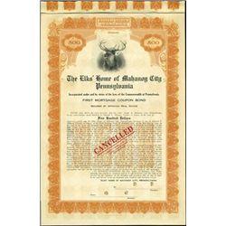 The Elks Home of Mahanoy City Bond,