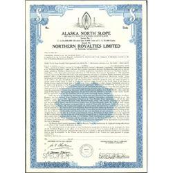 Alaska North Slope Royalty Participation Certifica
