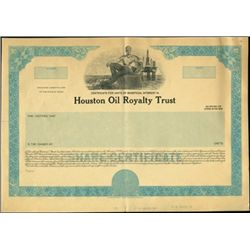 Houston Oil Royalty Trust Production File,