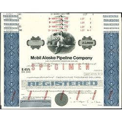 Mobil Alaska Pipeline Co. Impressive Registered Bo