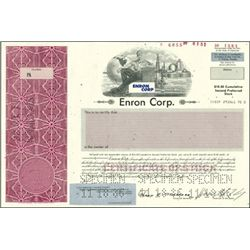 Enron Corp. Stock Certificate Specimens (3)