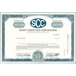 Slent Computer Corporation Stock Specimens (2),