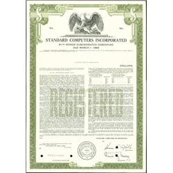 Standard Computers Incorporated Bond Specimens (3)