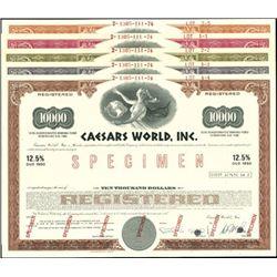 Caesars World, Inc. Registered Bonds,